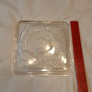 Vintage Federal  Glass clear lid $ 15.00 # A236